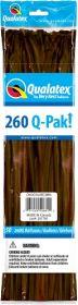 260Q Qualatex Q-Pak Chocolate Brown Latex Balloons - 50 count