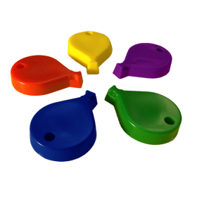 65 Gram Primary Color Balloon Shape Balloon Weight - 10 count