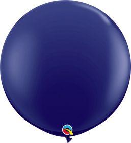36 inch Qualatex Navy Latex Balloons - 2 count
