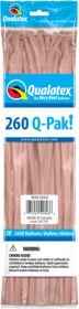 260Q Qualatex Q-Pak Rose Gold Latex Balloons - 50 count