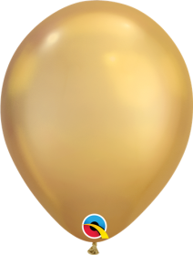 7 inch Qualatex Chrome Gold Latex Balloons - 100 count