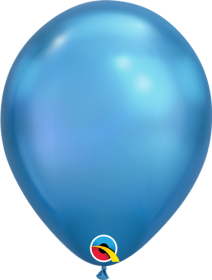 11 inch Qualatex Chrome Blue Latex Balloons - 25 count