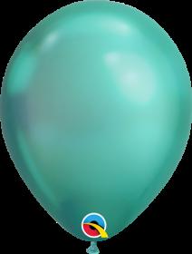 7 inch Qualatex Chrome Green Latex Balloons - 100 count