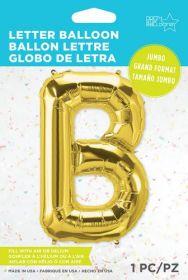 34 inch Northstar Gold Letter B Foil Mylar Balloon