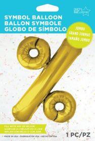 34 inch Northstar Gold Percent Symbol Foil Balloon