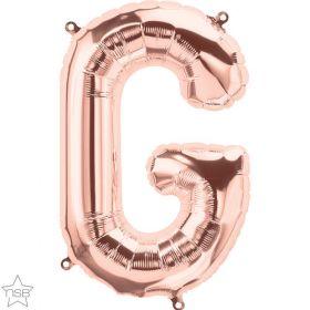 16 inch Rose Gold Letter G Foil Mylar Balloon