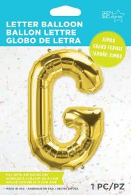 34 inch Northstar Gold Letter G Foil Mylar Balloon