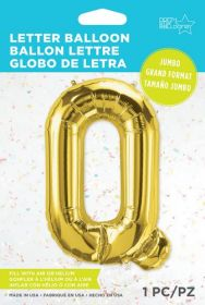 34 inch Northstar Gold Letter Q Foil Mylar Balloon