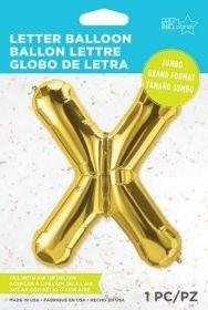 34 inch Northstar Gold Letter X Foil Mylar Balloon