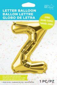 34 inch Northstar Gold Letter Z Foil Mylar Balloon