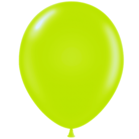 11 inch Tuf-Tex Lime Green Latex Balloons - 100 count