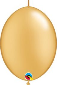 12 inch Qualatex Gold QuickLink Latex Balloons - 50 count