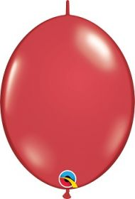 12 inch Qualatex Ruby Red QuickLink Latex Balloons - 50 count