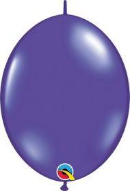 12 inch Qualatex Quartz Purple QuickLink Latex Balloons - 50 count