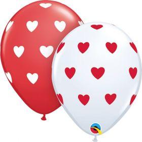 11 inch Qualatex Valentine's Big Hearts Around Latex Balloons- 50 count