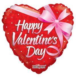 36 inch Happy Valentine's Day Gift Foil Mylar Heart Balloon - Pkg
