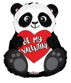 18 inch Kaleidoscope Be My Valentine Panda Bear Shape Foil Balloon - flat