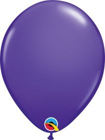 16 inch Qualatex Purple Violet Latex Balloons - 50 count