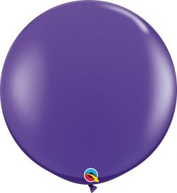 36 inch Qualatex Purple Violet Latex Balloons - 2 count