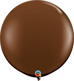 36 inch Qualatex Chocolate Brown Latex Balloons - 2 count