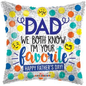 18 inch Dad I'm Favorite Foil Mylar Square Balloon
