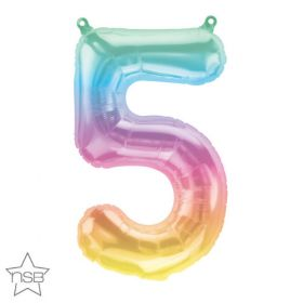 16 inch Northstar Jelli Ombre Number 5 Foil Mylar Balloon