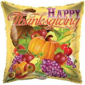 18 inch Thanksgiving Harvest Square Foil Mylar