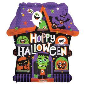18 inch Haunted House Shape Halloween Foil Mylar