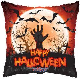 18 inch Halloween Zombie Hand Square Foil Mylar