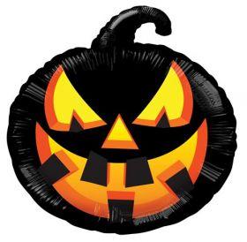 18 inch Halloween Black Pumpkin Shape Foil Mylar