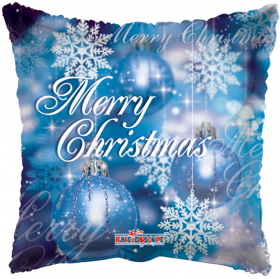 18 inch Merry Christmas Ornaments Square Foil Balloon