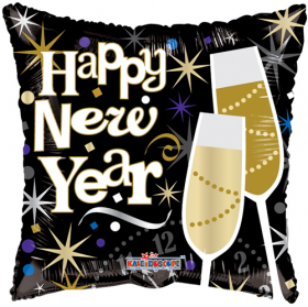 18 inch Celebrating Happy New Year Square Foil Balloon