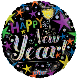 18 inch Happy New Year Circle Foil Balloon
