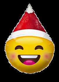 18 inch Smiley Emoticon Santa Hat Foil Balloon