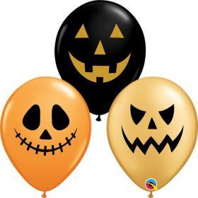 11 inch Qualatex Jack Faces Halloween Latex Assortment - 50 count