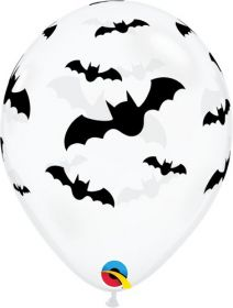 11 inch Qualatex Bats Halloween Latex - 50 count