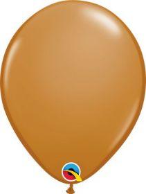 11 inch Qualatex Mocha Brown Latex Balloons - 100 count