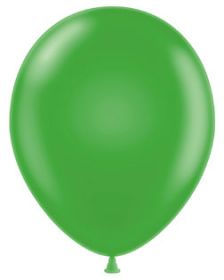 11 inch Tuf-Tex Metallic Green Latex Balloons - 100 count
