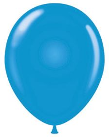 17 inch Tuf-Tex Standard Blue Latex Balloons - 50 count