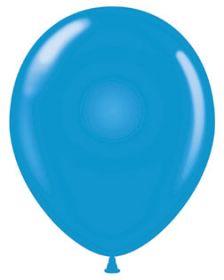 5 inch Tuf-Tex Standard Blue Latex Balloons - 50 count