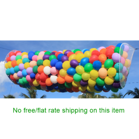 BOSS 4.5 x 15 Foot Pre-Rigged Balloon Drop for 500 - 9 inch Balloons with Zippered Rings for Filling