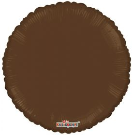 18 inch Brown Circle Foil Balloons