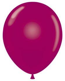 11 inch Tuf-Tex Crystal Burgundy Latex Balloons - 100 count