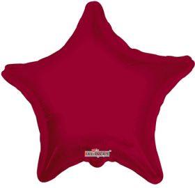 18 inch Burgundy Star Foil Balloons