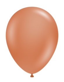 5 inch Tuf-Tex Burnt Orange Latex Balloons - 50 count