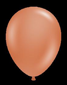 17 inch Tuf-Tex Burnt Orange Latex Balloons - 50 count