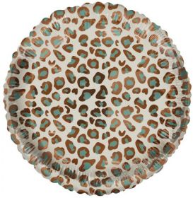 18 Inch Tuf-Tex Catty Wild Circle Foil Mylar Balloon - Pkg