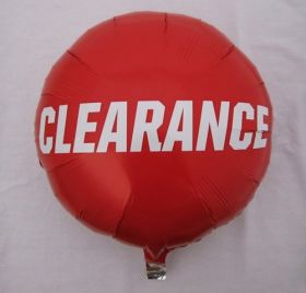 18 inch Foil Mylar Red Circle Clearance Balloon