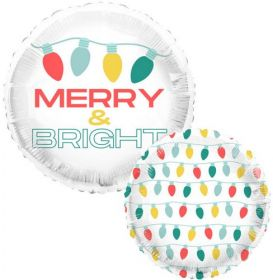 18 inch Tuf-Tex Feelin Festive & Bright Foil Balloon - Pkg