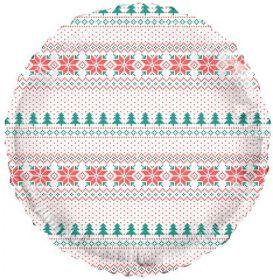 18 inch Tuf-Tex Feelin Festive Ugly Sweater Print Foil Balloon - Pkg